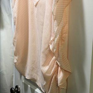 Victoria's Secret Peach/white swimsuit cover up